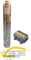 Vega 3LARS1.0/50-24/180W Solar DC Borehole Pump, Motor and Control Box image 1