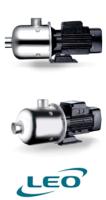 Leo EDHM2-50 - 0.55KW 230V Multistage Horizontal Pump image 1
