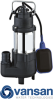 Vansan V250F - 0.25KW 230V Submersible Dewatering Pump For Dirty Water -  picture