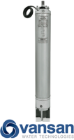 Vansan Water Filled Submersible Motor Stainless Steel Top & Bottom (175mm) - 55KW 400V image 1